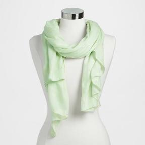 World Market Mint and Gold Foil Elephant Scarf