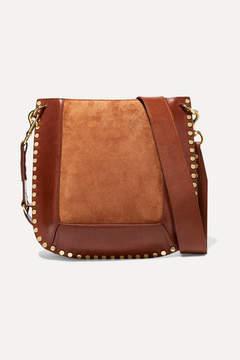 Isabel Marant Oskan Studded Leather And Suede Shoulder Bag - Tan