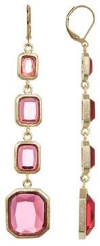 Rivka Friedman Faceted Rubellite Crystal Multi Drop Earrings