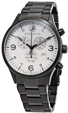 Co Brooklyn Watch Bedford Brownstone Chronograph Grey Dial Men's Watch