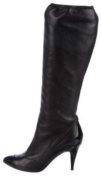 Chanel CC Cap-Toe Knee Boots