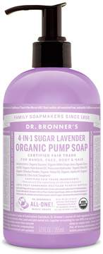 Dr. Bronner's Sugar Lavender Organic Pump Soap by 12oz Liquid Soap)