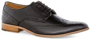 Topman Black Leather Brogues