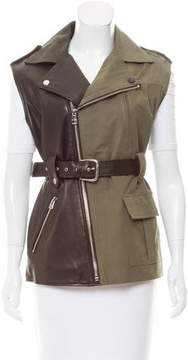 Each X Other Leather-Paneled Asymmetrical Vest w/ Tags