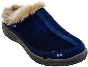 Ryka As Is Faux-Fur Clog Slip-ons - Azure