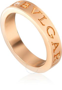 Bvlgari 18K Pink Gold Diamond Ring Size