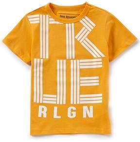 True Religion Little Boys 2T-7 Short-Sleeve Linear TR Tee