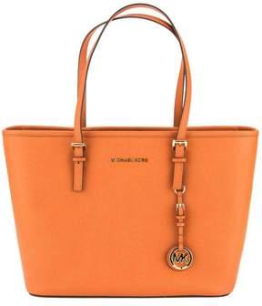 Michael Kors Orange Saffiano Leather Jet Set Travel Top-Zip Tote - ORANGE - STYLE