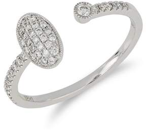 Bony Levy 18K White Gold Bezel & Pave Diamond Cuff Ring