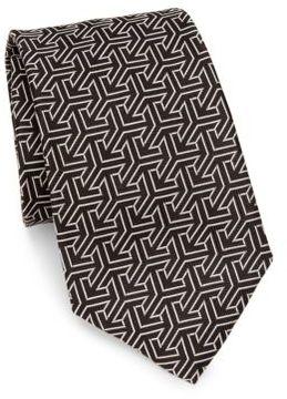 Ralph Lauren Geometric Jacquard Silk Tie