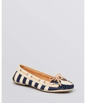 AERIN Womens Skipper Fabric Closed Toe Boat Shoes.