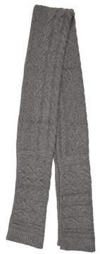 Rag & Bone Grey Cable Knit Scarf