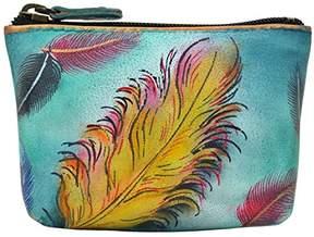 Anuschka Women's Leather Coin Purse | Genuine Soft Leather | Hand-painted Original Art |
