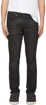 Saint Laurent Black Holes Low-Waisted Skinny Jeans