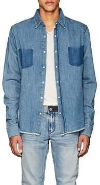 RtA Men's Distressed Denim Shirt