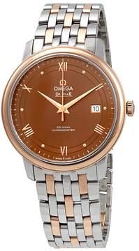 Omega De Ville Prestige Automatic Chronometer Brown Dial Men's Watch