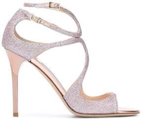 Jimmy Choo Lang glittered sandals