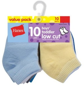 Hanes Newborn Baby Boy Low Cut Socks - 10 Pack