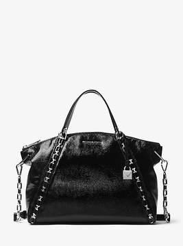Michael Kors Sadie Patent Leather Satchel - BLACK - STYLE