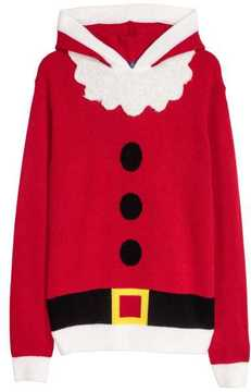 H&M Hooded Christmas Sweater
