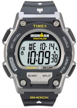 Timex Men's T5K195 Ironman 30-Lap Shock Resistant Watch - Black/Yellow