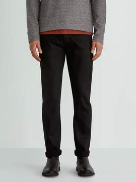 Frank and Oak The Cooper Slim-Straight Selvedge Jean in Jet Black