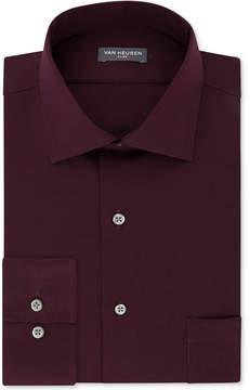 Van Heusen Men's Classic-Fit Big & Tall Wrinkle Free Flex Collar Stretch Solid Dress Shirt