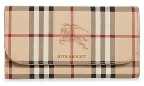 Burberry Women's Harris Haymarket Check Calfskin Wallet - Beige - BEIGE - STYLE