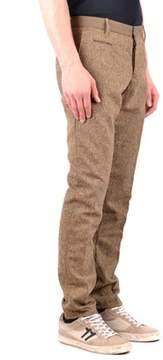 Incotex Men's Brown Wool Pants.