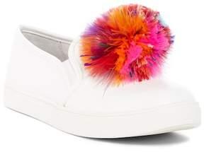 Betsey Johnson Trixy Feather Pompom Slip-On Sneaker