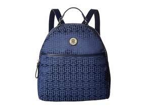 Tommy Hilfiger Alena Dome Backpack Mono Jacquard Backpack Bags