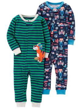 Carter's Toddler Boy Footless Pajamas, 2-pack