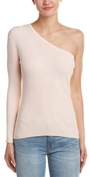 Central Park West One-shoulder Sweater.
