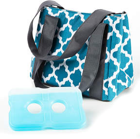 Fit & Fresh Teal Ikat Venice Insulated Lunch Bag & Ice Pack Set