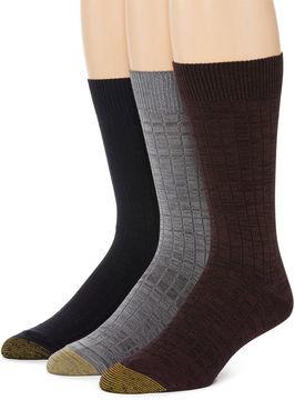 Gold Toe 3-pk. Johnny Rib Crew Socks