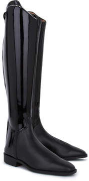 Swarovski Cavallo Junior Edition Riding Boots With Patent And