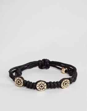 ICON BRAND Bullet Cord Bracelet In Black