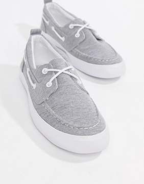 Asos DESIGN Boat Shoes In Gray Marl