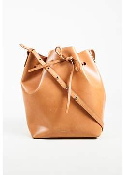 Mansur Gavriel Pre-owned cammello Brown Vegetable Tanned Leather bucket Bag.