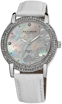Akribos XXIV Akribos Diamond Mother of Pearl Dial Ladies Watch