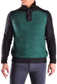 Reign Men's Black/green Wool Sweater.
