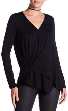 Fifteen-Twenty Fifteen Twenty Long Sleeve Drape Front Tee