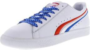 Puma Men's Clyde 4Th Of July High Risk Red / Royal White Ankle-High Leather Fashion Sneaker - 12M