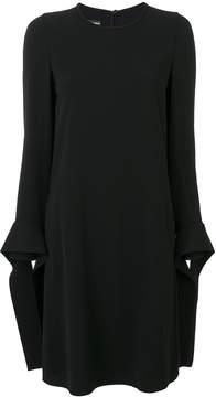 Emporio Armani shift dress with tie cuffs