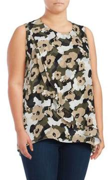 Context Plus Floral Layered Top