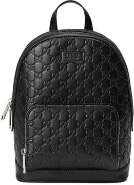 Gucci Signature leather backpack - BLACK GUCCI SIGNATURE - STYLE