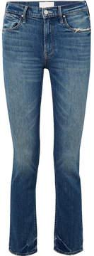 Mother The Flirt Chew Distressed Mid-rise Slim-leg Jeans - Mid denim