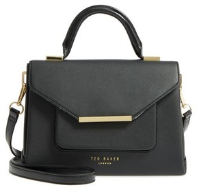 Ted Baker Faux Leather Satchel - Black