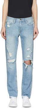 Frame Blue LHomme Slim Raw Edge Jeans