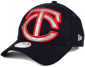 New Era Women's Minnesota Twins Glitter Glam 9FORTY Strapback Cap